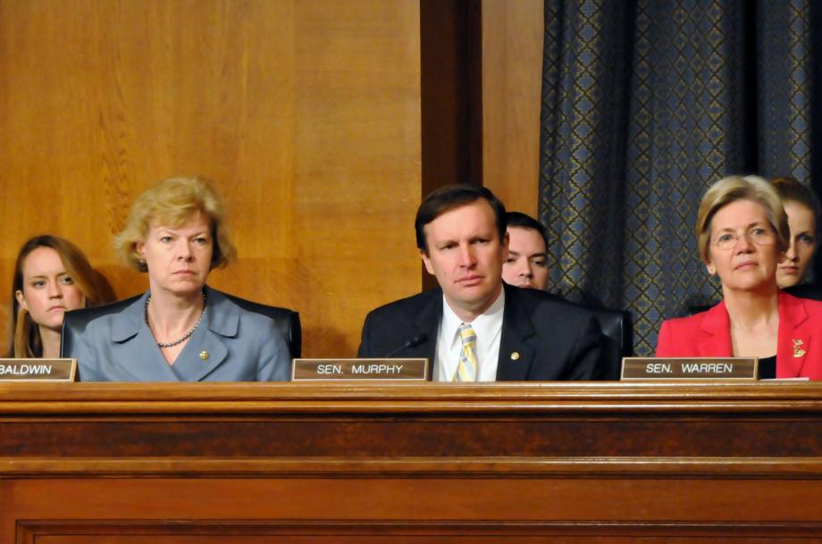 Sen. Baldwin, Sen. Murphy and Sen. Warren