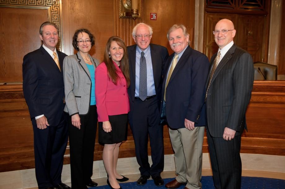 Sen. Sanders with teh panelists