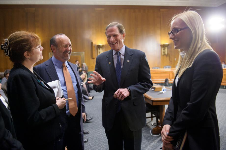 Sen. Blumenthal talking to the witnesses