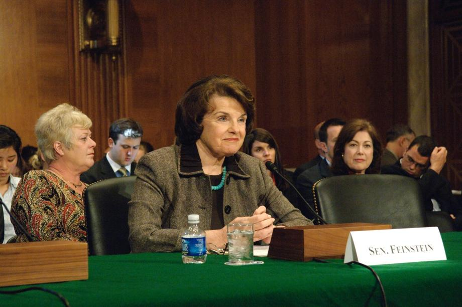Sen. Feinstein testifying
